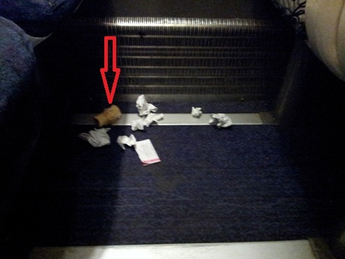 Litter on the train
